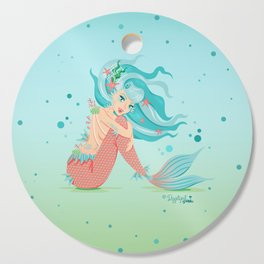 Monster Mermaid Pin-Up Cutting Board