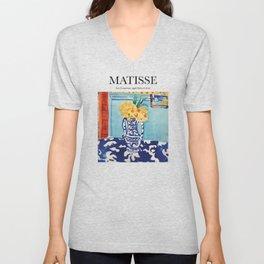 Matisse - Les Coucous, tapis bleu et rose Unisex V-Neck