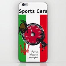 Ferrari, Maserati, Lamborghini : an italian trilogy. Vintage Decoration Print Poster iPhone & iPod Skin