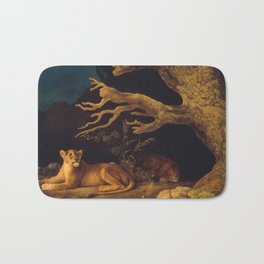 Lion and lioness - George Stubbs - 1771 Bath Mat