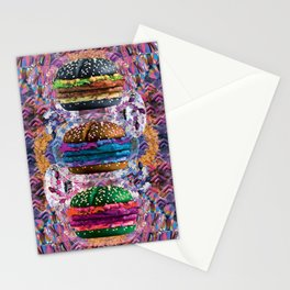 black burger doom zone Stationery Cards