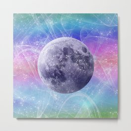 Moon Vortex Metal Print