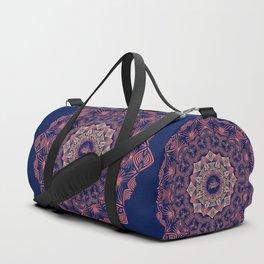 Tribal Hogfish Mandala on Indigo Duffle Bag