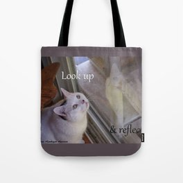 Cat Reflected: Look Up & Reflect Tote Bag