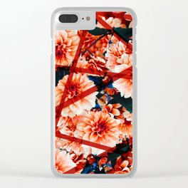 Fall Blooms - Mums Clear iPhone Case