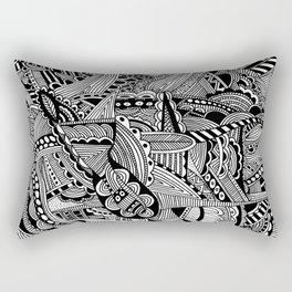 Black and White Doodle Art #2 Rectangular Pillow