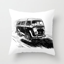 at full speed Throw Pillow