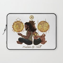Meditate & Chill Laptop Sleeve