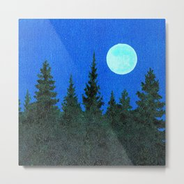 Once Upon a Blue Moon Metal Print