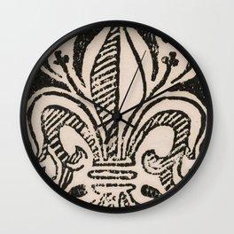 Distressed Fleur-de-Lis Wall Clock
