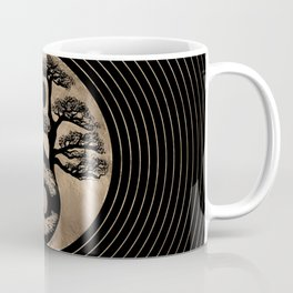 Yin Yang Tree Black and Gold Coffee Mug