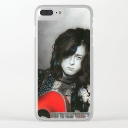 'Jimmy Page' Clear iPhone Case