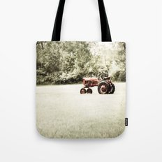 Vintage Red Tractor Tote Bag
