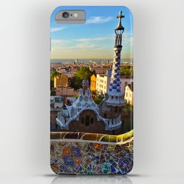 Park Guell, Barcelona, Spain in Sunrise iPhone Case