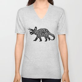 Triceratops or Tricerabottom? Unisex V-Neck