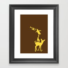 Animal Brassband Framed Art Print