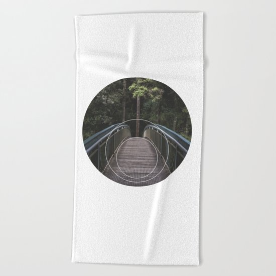 Circular Bridge - Geometric Photography Beach Towel