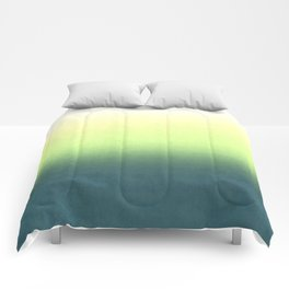 green , yellow , white , Ombre Comforters