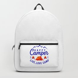Happy Camper Live Love Camp bry Backpack