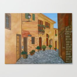 Village in Tuscany #3 Canvas Print