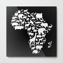 Animals of Africa Metal Print