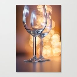 Wine Glasses and Bubble Bokeh Canvas Print