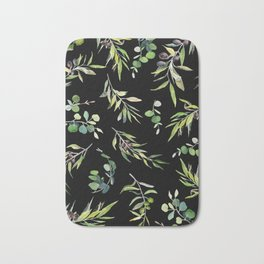 Eucalyptus and Olive Pattern  Bath Mat