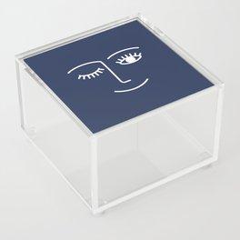 Wink / Navy Acrylic Box
