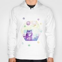 space cat Hoodies featuring Space Cat! by Colorful Simone