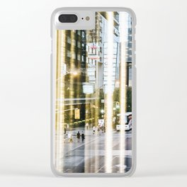 Downtown Reflections Clear iPhone Case
