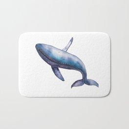 Humpback Whale Breech Watercolor Bath Mat