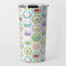 Sewing Quilting Flat Pattern Travel Mug