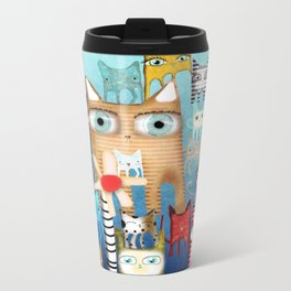 Bunch of Cats Metal Travel Mug