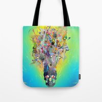 archan nair Tote Bags featuring Revival by Archan Nair