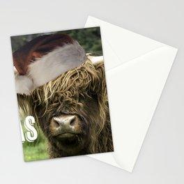 Merry Moo-Mas Stationery Cards