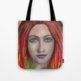 She speaks without voice Tote Bag