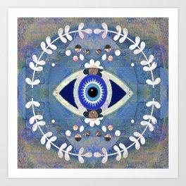 Evil Eye Protective Turkish Mandala Print Art Print