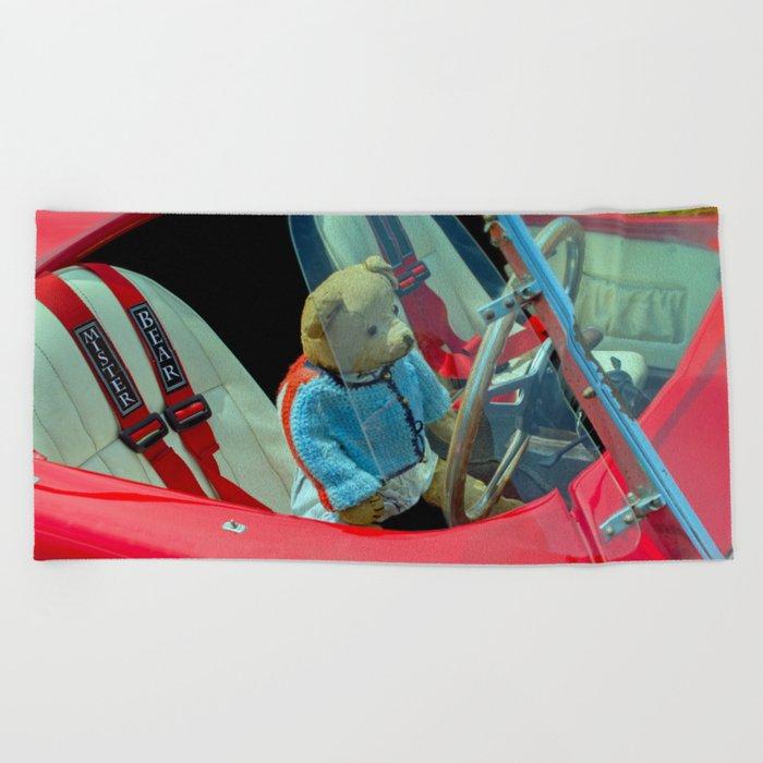BEARY NICE CAR Beach Towel