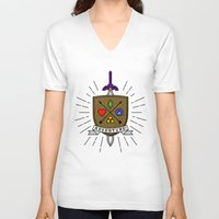 adventure V-neck T-shirts featuring ADVENTURE! by Quick Brown Fox