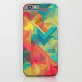 1990s Inspired Geometric Color Palette // VIBRANT ABSTRACT MULTI GRAPHIC iPhone Case
