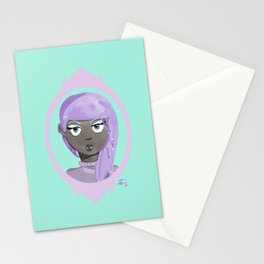 Pastel Vampire Woman Stationery Cards