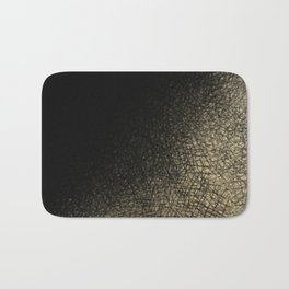 Modern abstract black gold watercolor brushstrokes Bath Mat