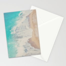 looking down on the Adriatic Sea ... aerial beach photograph Stationery Cards
