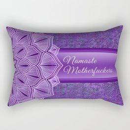 Namaste Motherfuckers. Rectangular Pillow