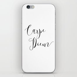 Carpe Diem Minimalist Art Print iPhone Skin