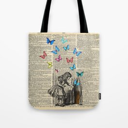 Alice In Wonderland - Let The Adventure Begin Tote Bag