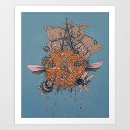 La machine volante Art Print