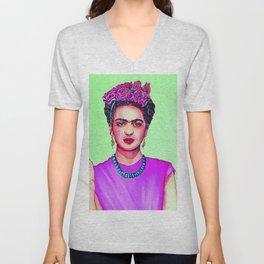 Frida Kahlo Upfront and Personal Unisex V-Neck