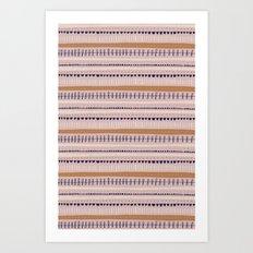 Pink & Orange Pattern Art Print