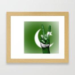 Pakistan Fingers Flag Framed Art Print